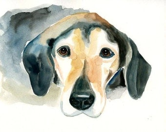 CUSTOM PET PORTRAIT Original watercolor painting 8X10inch