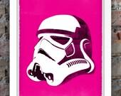 Star Wars Inspired Print (Villains Series: STORMTROOPER) A3