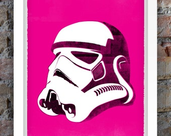 Star Wars Inspired Print (Villains Series: STORMTROOPER) A3