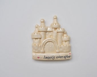 Personalized -Happily Ever After- Fantasy Castle Ornament