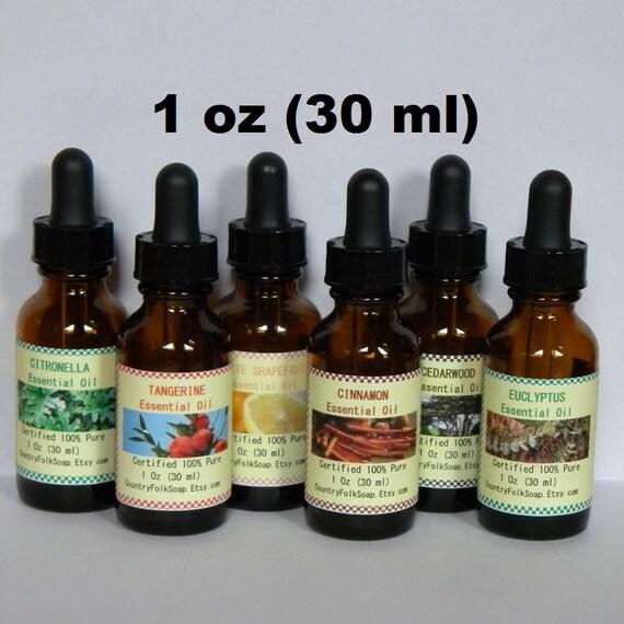 Pure Essential Oils - Lavender Essential Oil, Peppermint, Eucalyptus, Lemongrass, Cinnamon, Patchouli, Citronella, Tea Tree Oil, Bottles