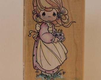 Birthday Blessings PRECIOUS MOMENTS rubber stamp Bible Journaling