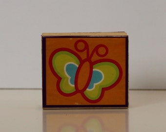 Open Line BUTTERFLY Rubber Stamp