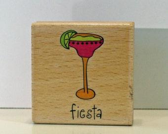 FIESTA Margarita Drink Rubber Stamp