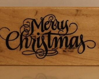 PSX Elegant MERRY CHRISTMAS Rubber Stamp