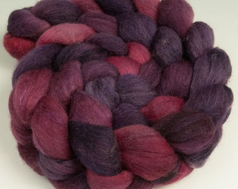 Polwarth Silk Top, Handpainted, 4 oz., Huckleberry