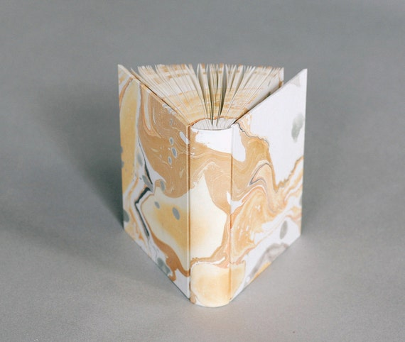 Stone Book: Golden Marbled Journal