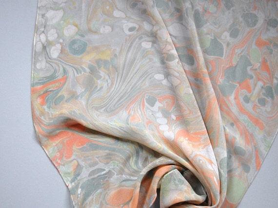 Marbled Silk Chiffon Scarf xxviii