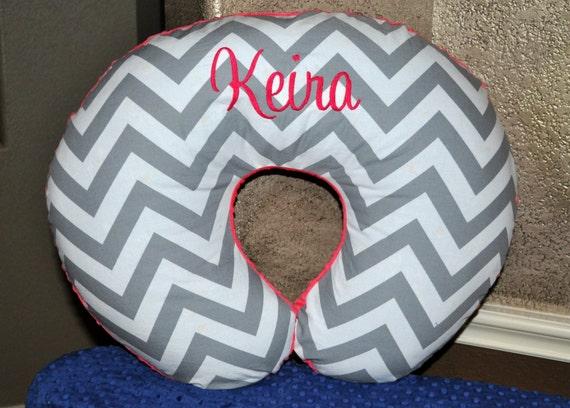 Nursing Pillow Cover Monogrammed Personalized Custom Chevron