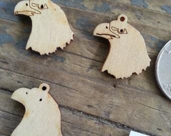 Eagle Head Laser Cut Wood Pendant- One Piece- Stock No. DESIGN2