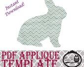 Applique Template - Bunny Rabbit