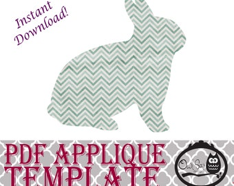 Applique Template - Bunny Rabbit