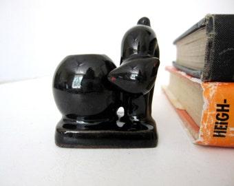 Vintage Black Cat Toothpick Holder, made in Occupied Japan