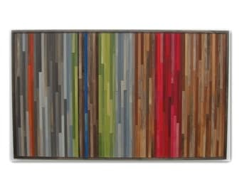 Abstract Painting on Wood - Wood Wall Art - Abstract Landscape - Wall Art