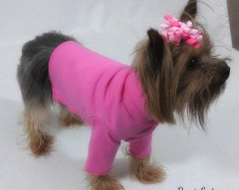 Bubblegum Pink Dog Turtleneck Shirt Clothes Size XXXS through Medium by Doogie Couture