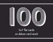 Printed Cards (100) 5x7 Cards on Deluxe Card Stock