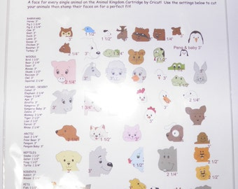 ON SALE  Animal Faces Rubber Stamp