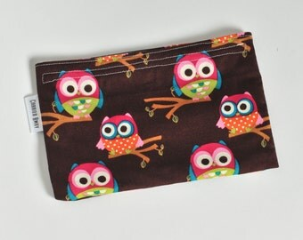 Snack Bag All Cotton - Fun Owls