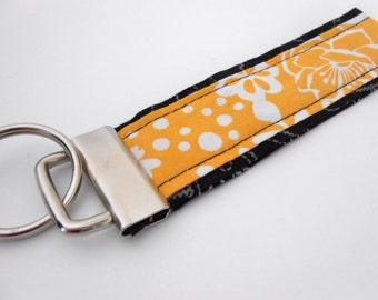 Wristlet Keyfob Keychain Yellow Black ~ Gift for new driver, Sweet 16, Stocking Stuffer, Mom gift shopping, Gift Baskets ~ Secure Your Keys