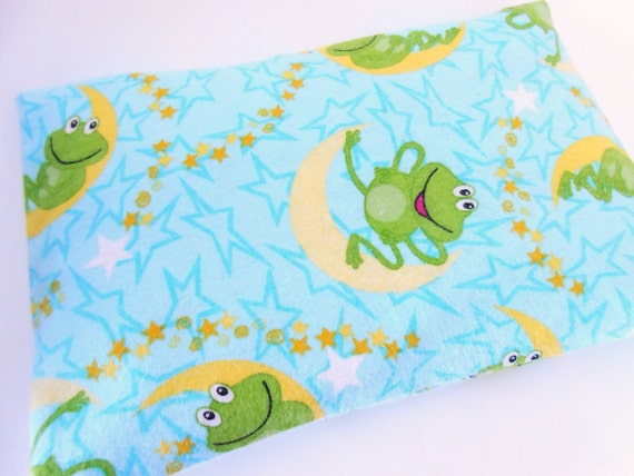 Small Microwave Heat Pack/ Cold Pack 9 x 6 - NIGHT FROGS Free Shipping Lavender Option