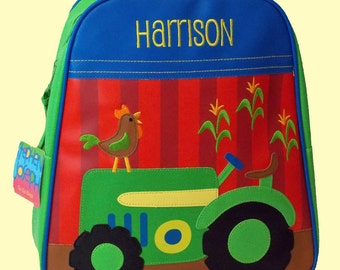 Personalized Stephen Joseph GoGo Backpack TRACTOR Themed Bag-Monogramming Included