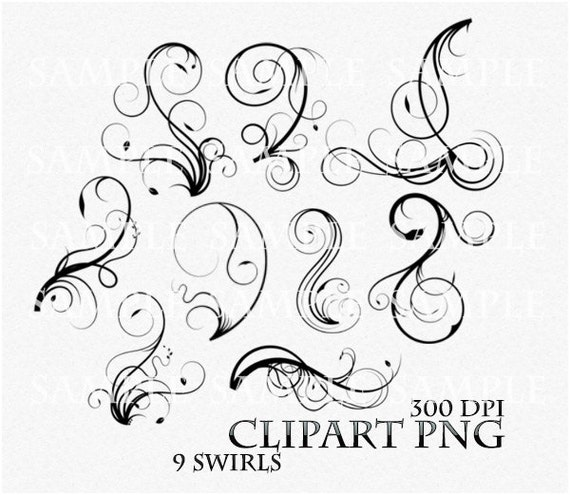 Swirl clipart clip art vector flourish png digital scrapbook like this item stopboris Image collections