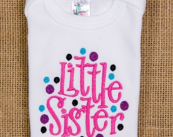 Personalized Little SISTER dots, oneise or shirt