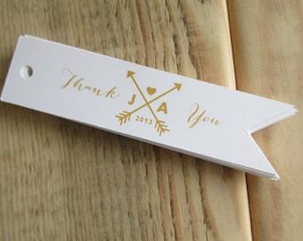 Arrow Monogram Wedding Favor Tags
