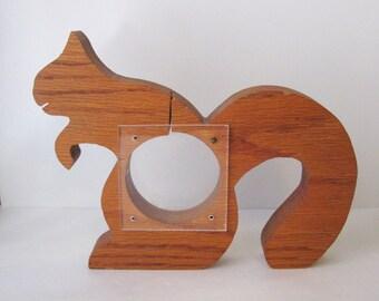 Wooden Squirrel Bank