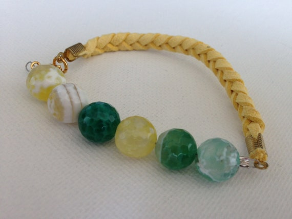 Peas in a Pod Yellow Bracelet