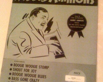 Rare Antique Albert Ammons Collection Published by Phil Lang  5 Boogie Woogie Piano Solos Original -1941