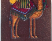 Nativity Camel Christmas Brooch