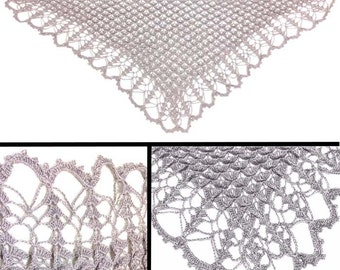 Athena Lacy Textured Shawl - PDF Crochet Pattern - Instant Download
