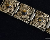Lovely Filigree Bracelet with Tiger-eye