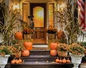 Autumn Photography Halloween Photograph Fall Colors Photo Pumpkins House Decorations Orange oth34