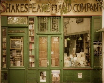 Paris Photography Shakespeare and Company Photo Bookstore Print France Fine Art Print par61