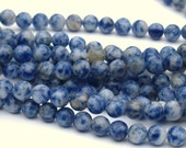 6mm Round Denim Lapis Full Bead Strand 62 beads