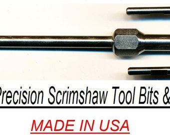 Printmaking Scrimshaw scribe hobby tool 3/8 hexagon stainless steel, CoulterPrecision