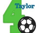 GreatStitch Soccer Ball Birthday Party Shirt