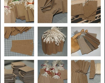 250 Kraft Tags ... Kraft Chipboard Tags Assortment Quantity Discount Bulk Pricing Rustic Tags Price Tags Blank Tags Seller Supplies