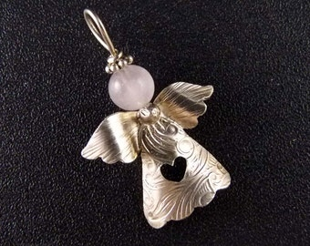 Lovely Angel Sterling Silver  Handmade Metalwork