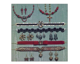 Choker Patterns Vintage Beading and Craft Booklet Accessories Necklaces Earrings Never Fail Patterns and Instructions Hot To