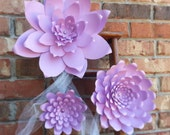 Weddings Large Handmade Paper Flowers In the Colors of your choice