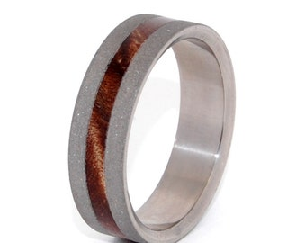 Wooden Wedding Rings, titanium ring, titanium wedding rings, Eco-friendly rings, mens ring, womens rings, wood rings - INFINITE LOVE