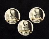 Halloween Sticker Seals Eerie Image Skeleton