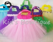 6 Party Favor Tutu Bags for your Disney Princesses Inspired Birthday Party - Girl tutu purses