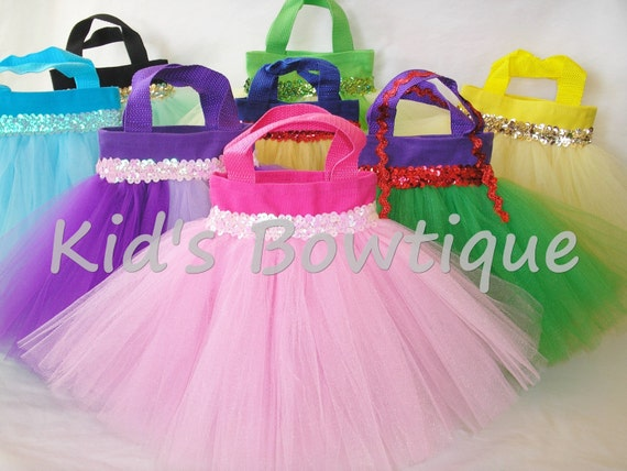 Set of 8 Disney Princesses Inspired Party Favor Tutu Bags - Unique Tutu Tote Bags
