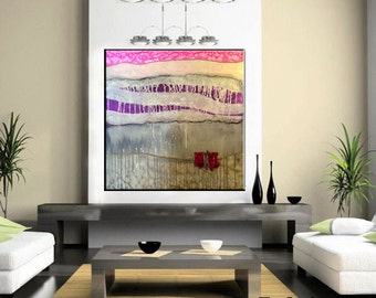 Custom artwork.  Huge Contemporary Abstract Painting by Kim Bosco