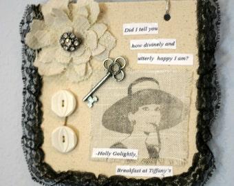 Collage Wall Hanging, Audrey Hepburn