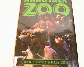 Handtalk Zoo By George Anacona And Mary Beth Vintage Children's Book